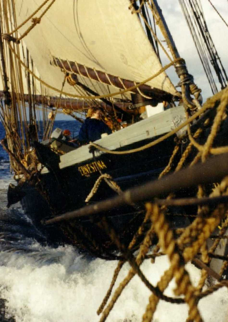 Ernestina-Morrissey: On the brink of a new chapter in her life of sailing.