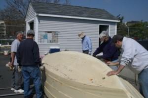 2011 may 7 New Bedford City Councillor Joe Lopes scraping dory