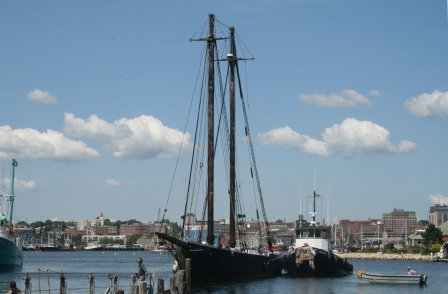 Under tow by Jaguar to Fairhaven Shipyard in 2008