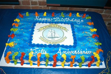 Schooner Ernestina's 118th Birthday Cake