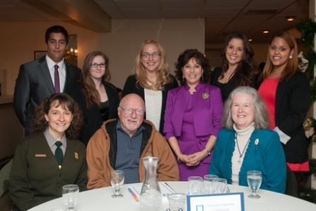 UMass Dartmouth students presented their report to Supt. Jen Nersesian, Commissioner Brian Rothschild and SEMA director Mary Anne McQuillan at a recent Student-Client Reception