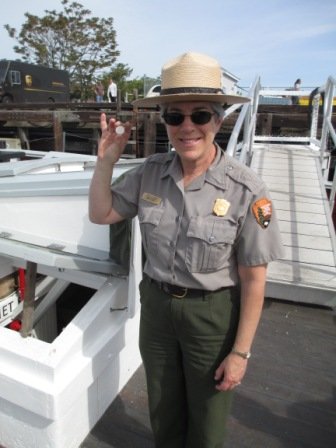 NPS Ranger Emily Prigot with the new quarter.