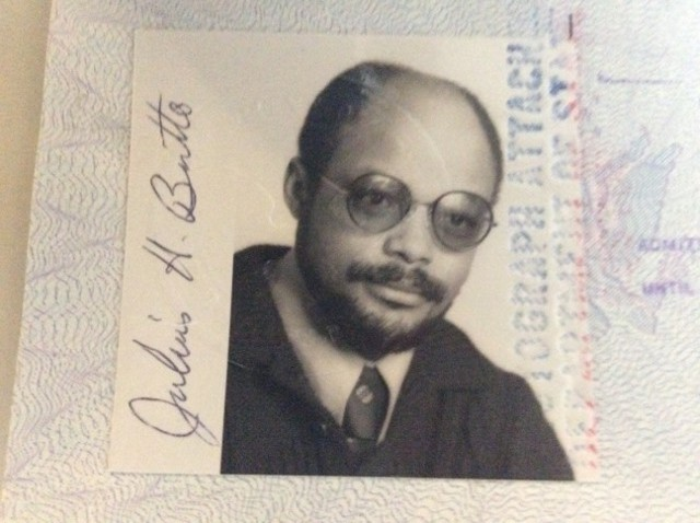 Juilus Britto's 1975 passport photo