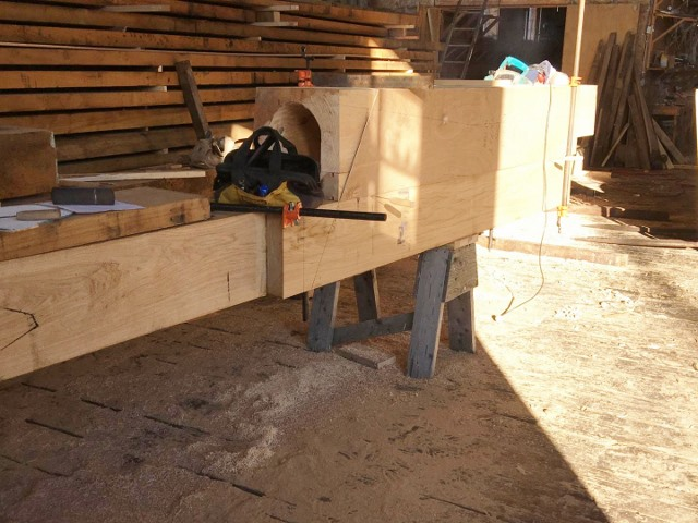 Rudder box and rudder post credit H.Burnham