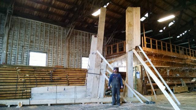 stern timbers -  Backbone, photo credit Ross Branch