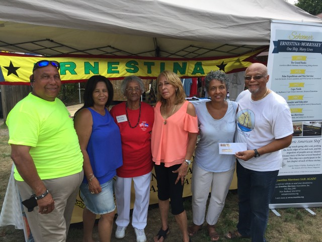 Mr. & Mrs. Arthur Joia; Mary  Paulette a founding member of the Friends of ERNESTINA Wareham Chapter; Mass. Dept. of Industrial Accident Administrative Judge Yvonne Vieira; Sandra & Julius