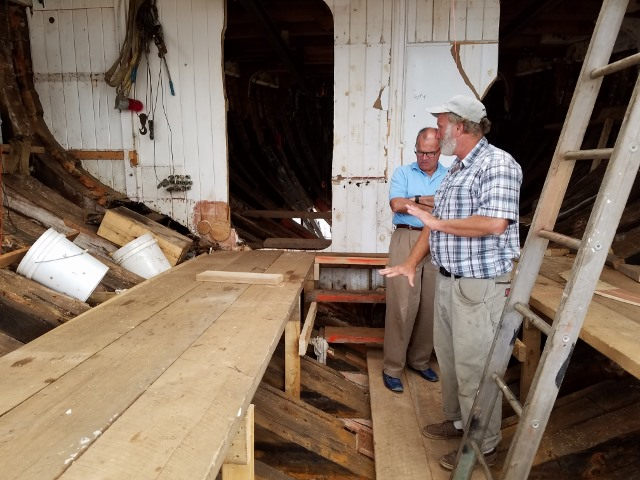 Harold explains to Bob the problems with working with the existing forard framing