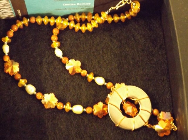 Necklace with Centerpiece from Ernestina by Denise Berkley