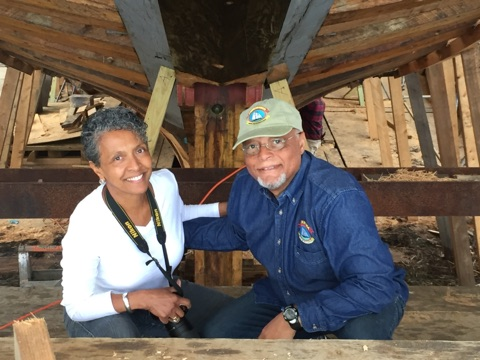 Sandra and Julius Britto excited to see the progress on Ernestina-Morrissey