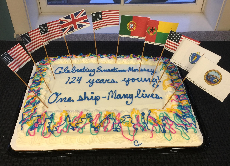 Flag Cake 124 Birthday Schooner Ernestina Morrissey