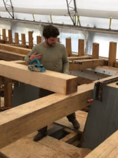 Preparing a frame that will fit between two deck beams
