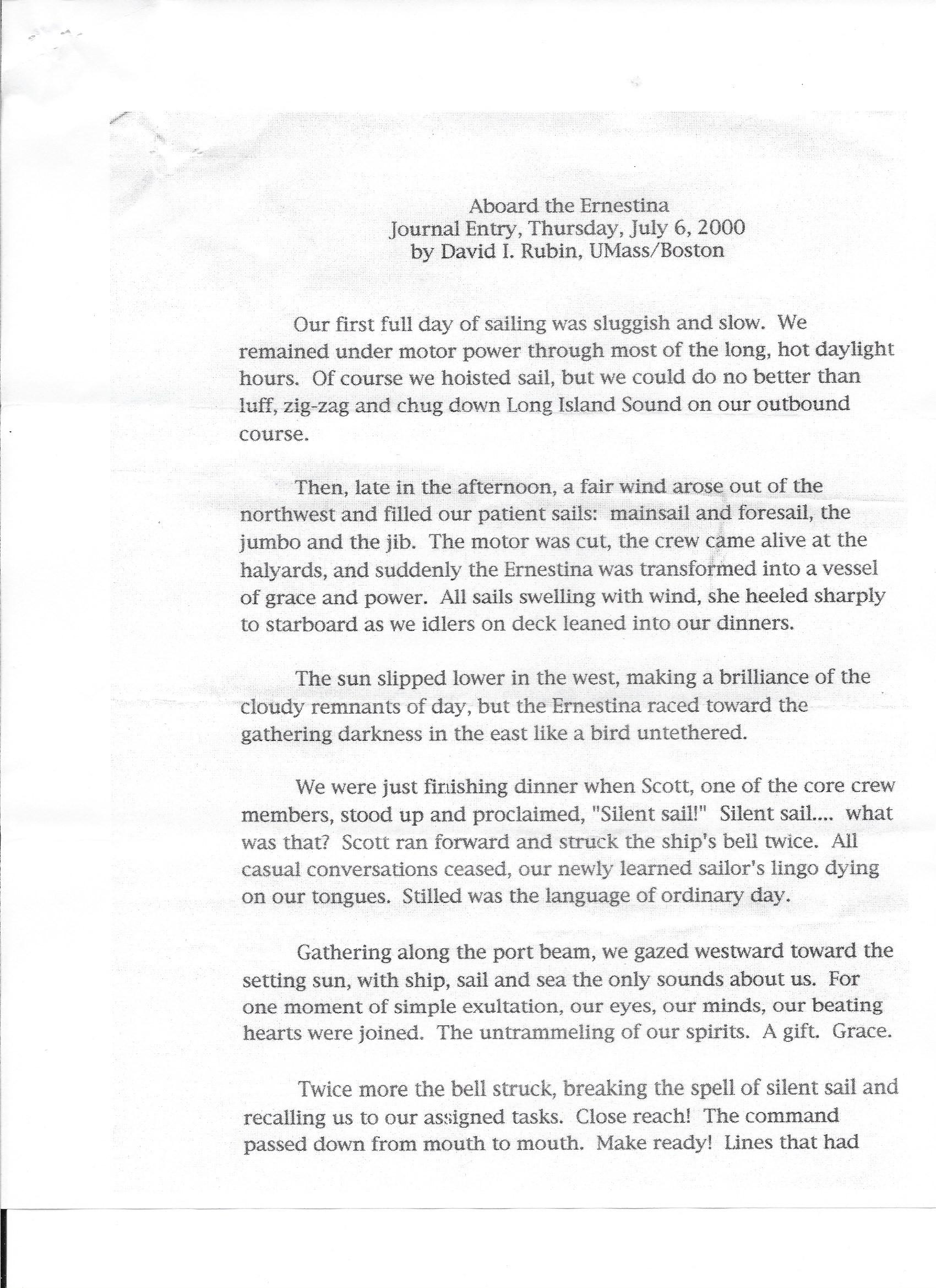 2000.07.06 David Rubin Journal a