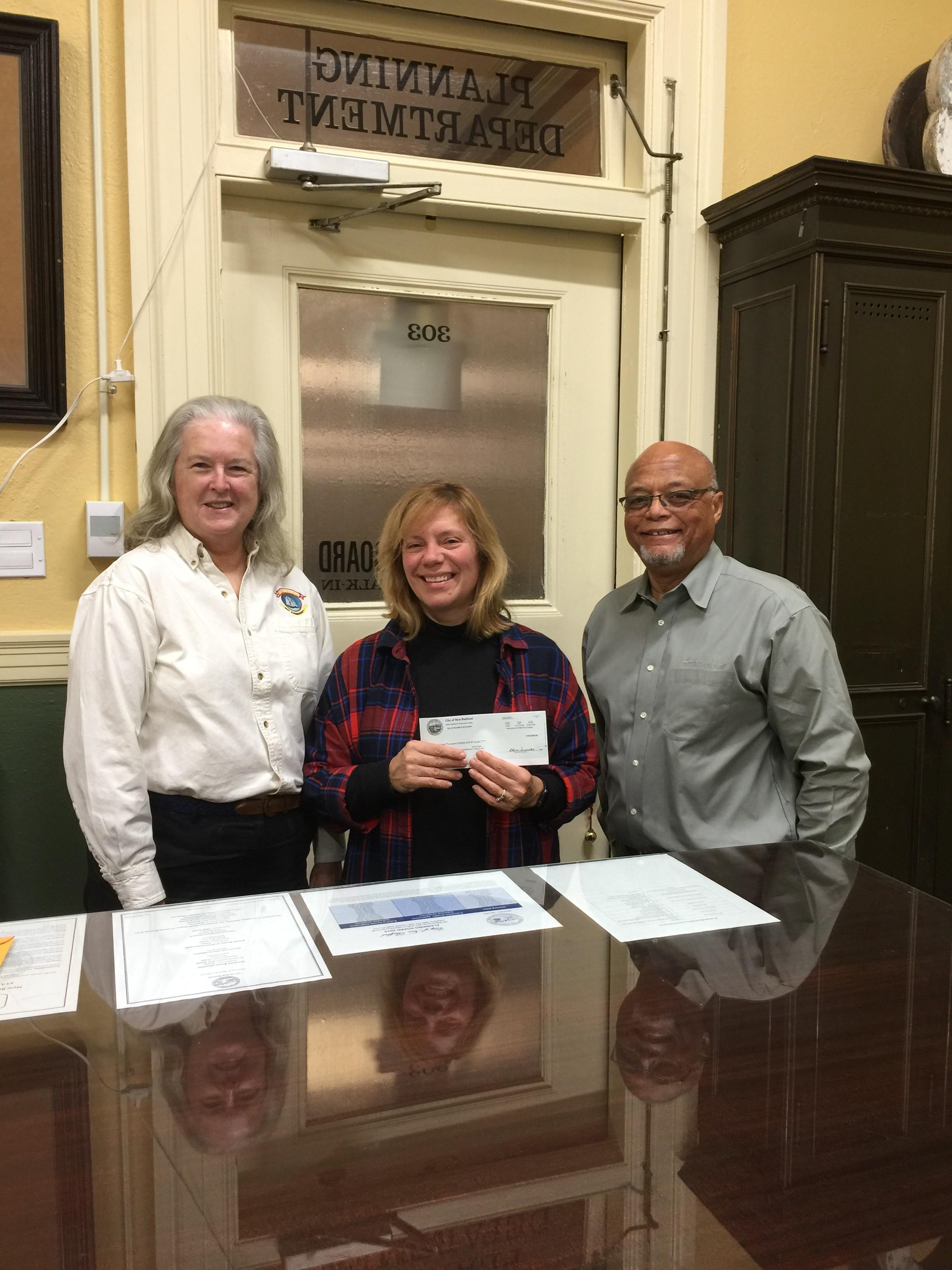 SEMA Secretary, Mary Anne McQuillan, New Bedford Preservation Planner, Anne Louro, and SEMA President Julius Britto