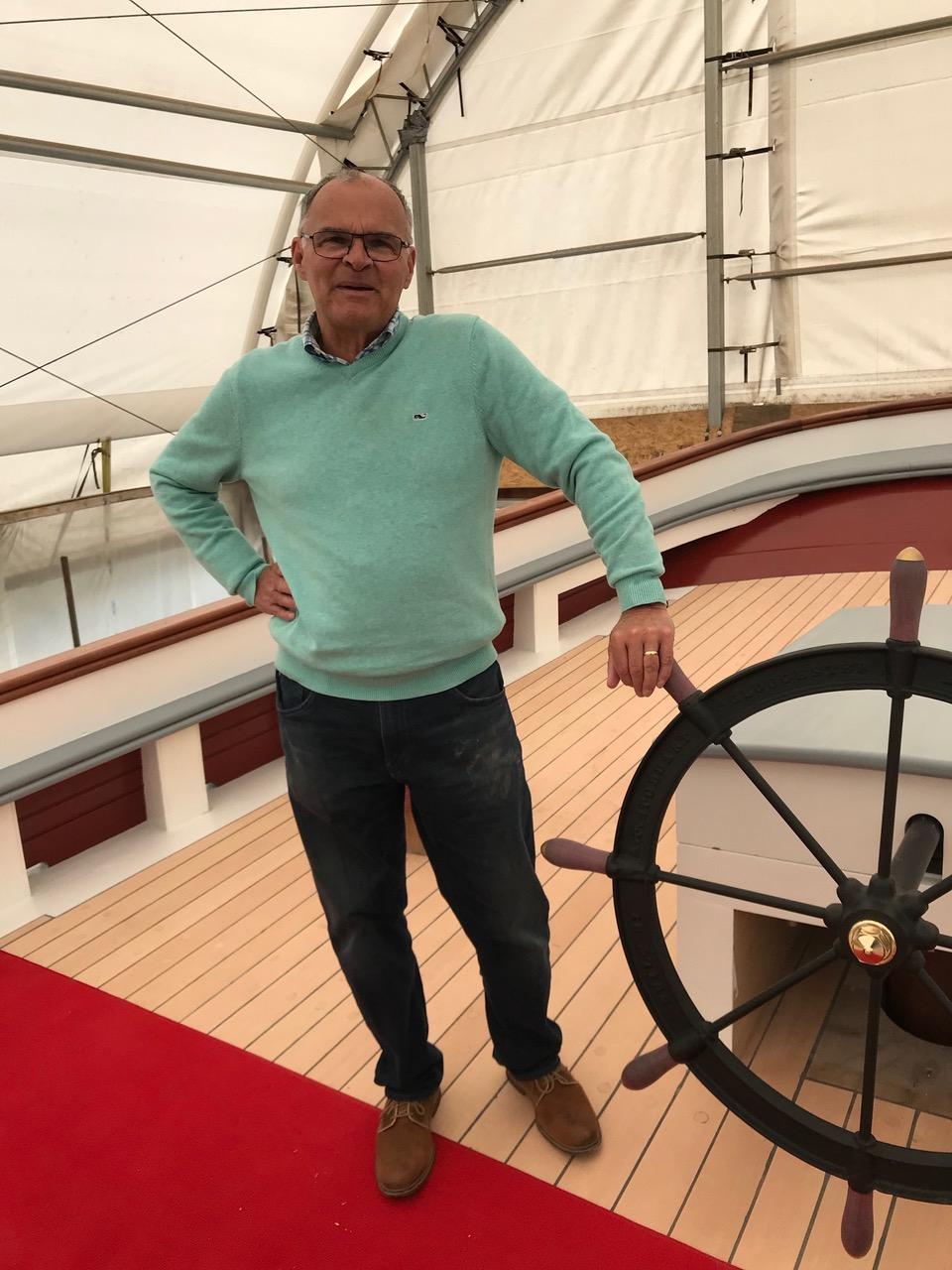 "Bob Hildreth ""at the wheel""  credit John Bullard"