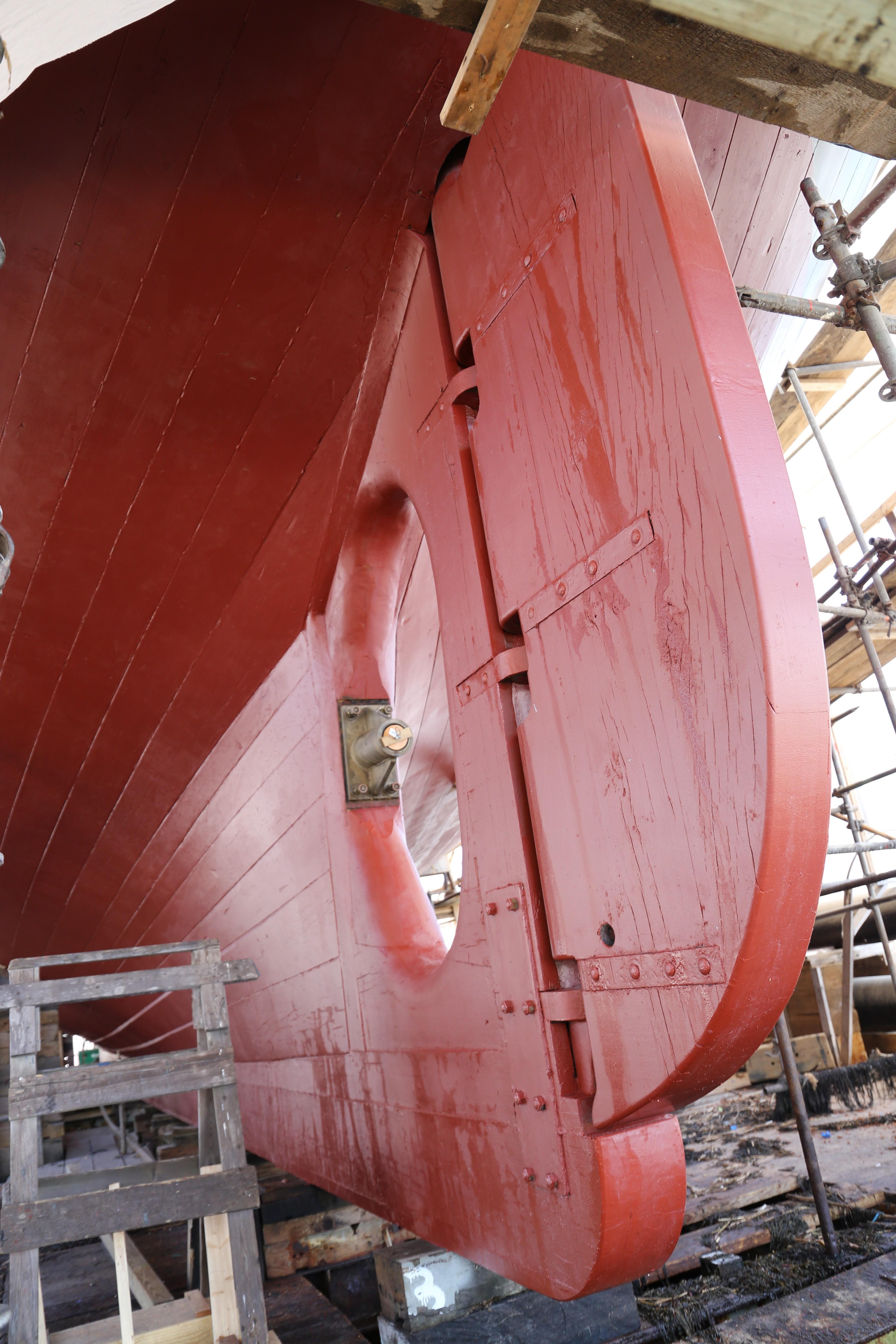 Anti-fouling paint all set port side. credit John Fialkowski