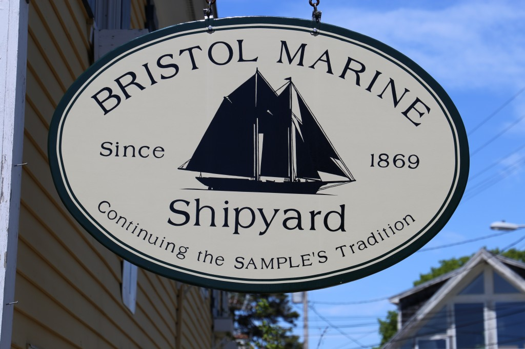 New sign for the Shipyard, Thanks to all the crew in Boothbay Harbor for a terrrific job well done! credit John Fialkowski