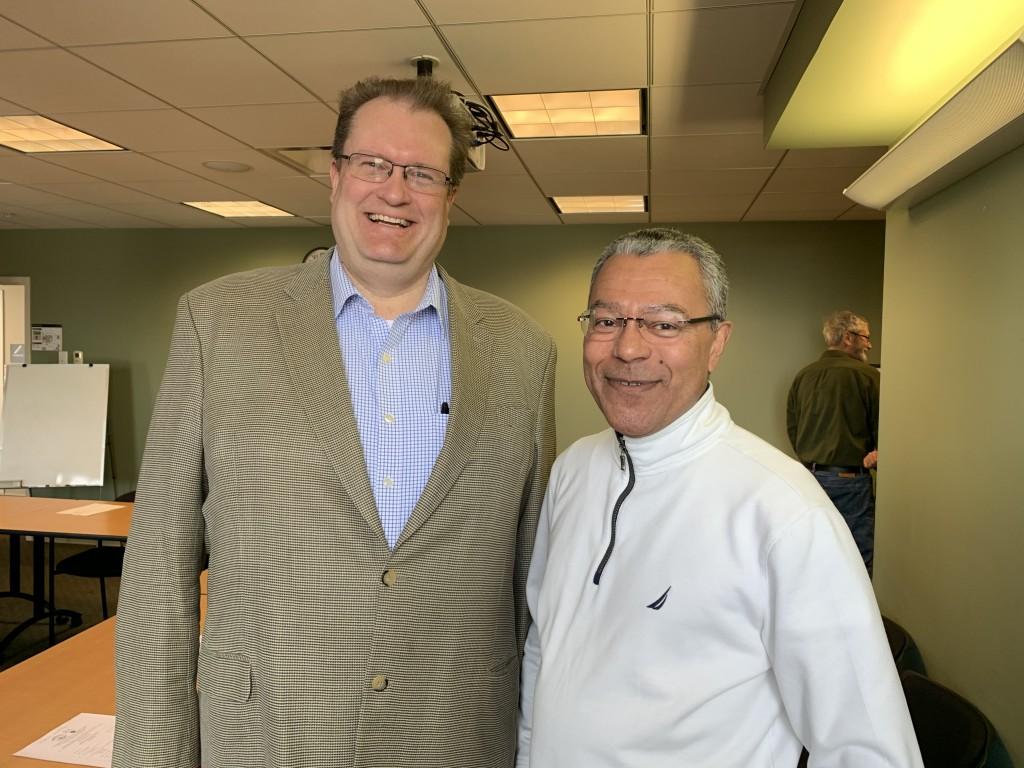 DCR Commissioner Jim Montgomery and Ernestina Commissioner Jose Centeio