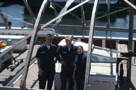 Melissa DeValles  - SEMA, right, with MMA cadets at an Ernestina work day