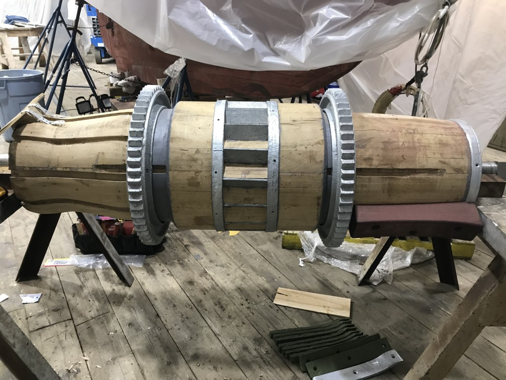 Ross Branch has been working hard to finalize the assembly of the final galvanized metal components.  This image shows a test fit prior to the final placement next week.