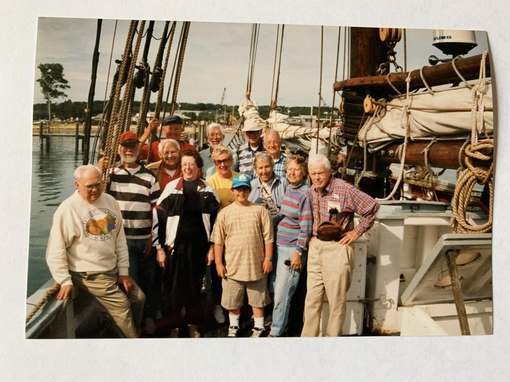 1998 Bartlett Boys reunion, Fred Littleton in striped shirt.