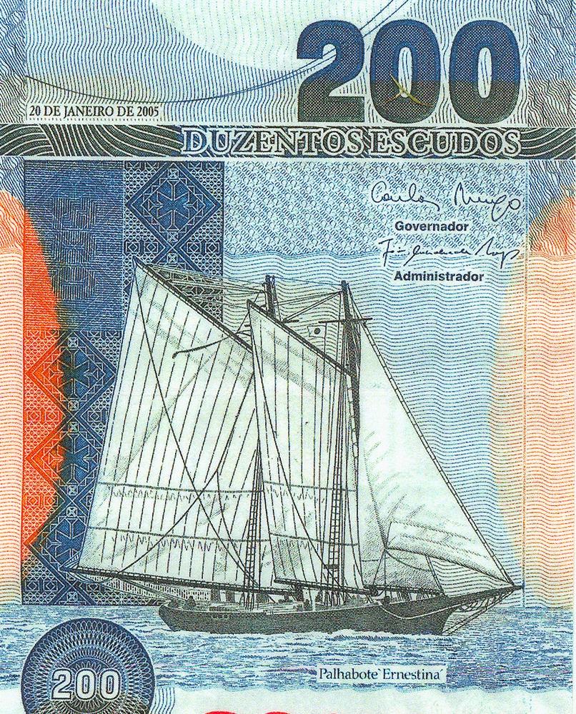 Ernestina on the Cabo Verde 200 escudos bill