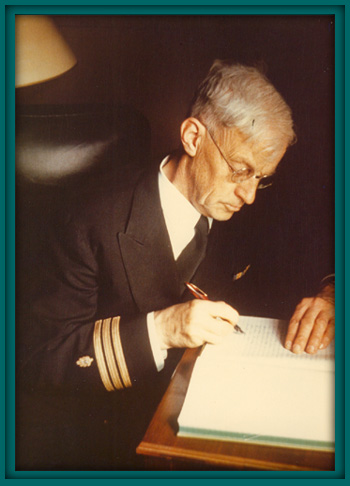 September 1943 photo of Commander Alexander Forbes in Argentia, Newfoundland by Sherman Wengerd