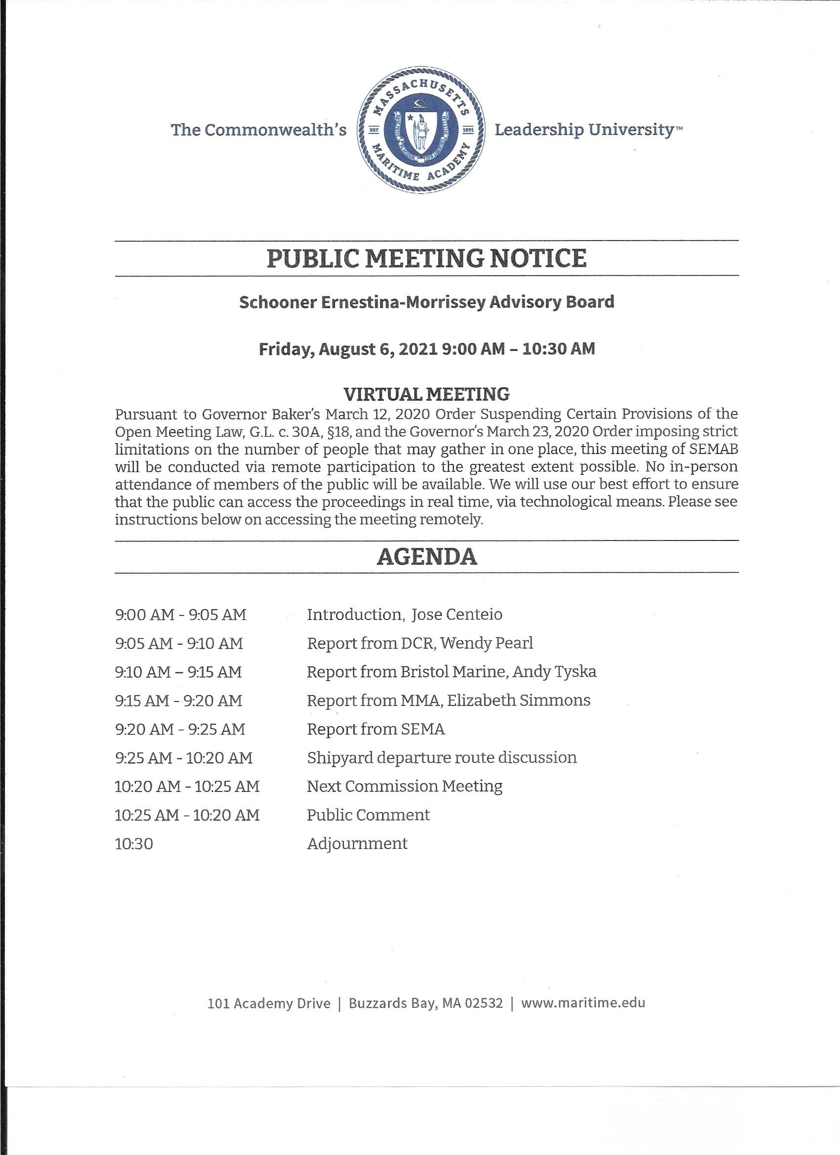 2021-0806 SEMAB Agenda p.1